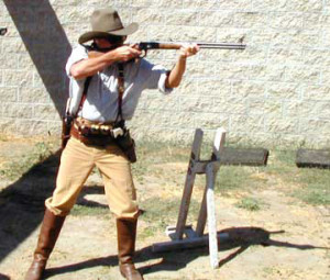 cowboy action shooting rifle match