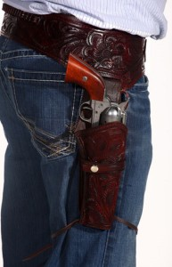 Leather Gun Holsters As Part Of Your Cowboy Action