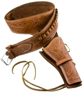 leather gun holster brown
